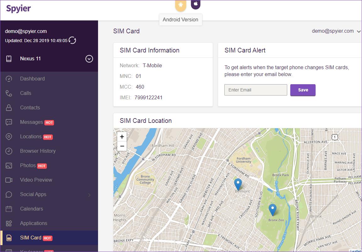 sim card tracker