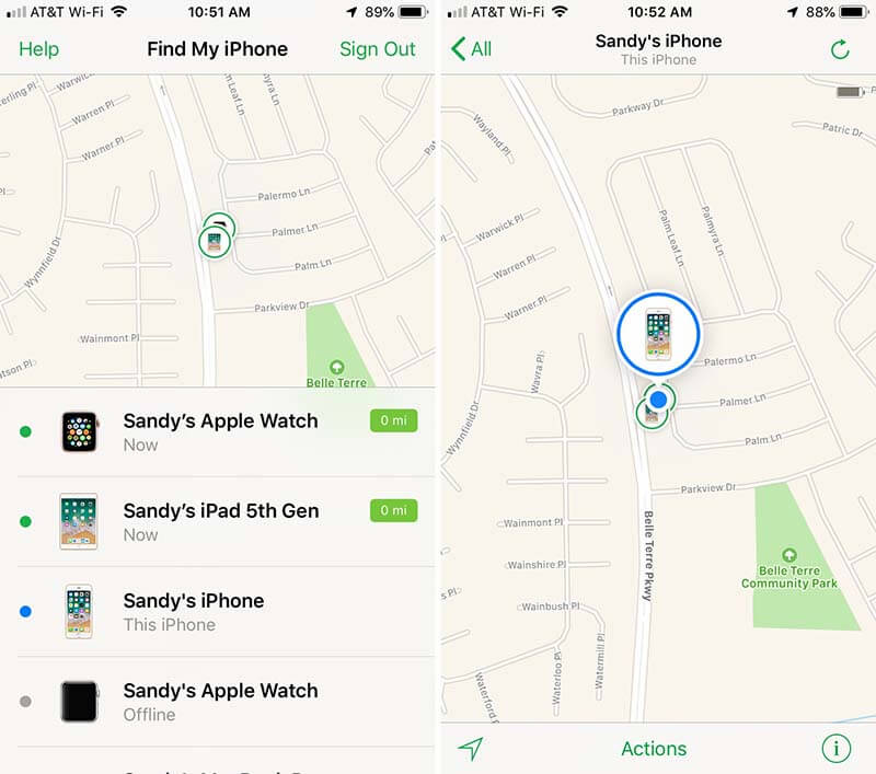 Find-My-iPhone-Device-List-and-Map-iPhone