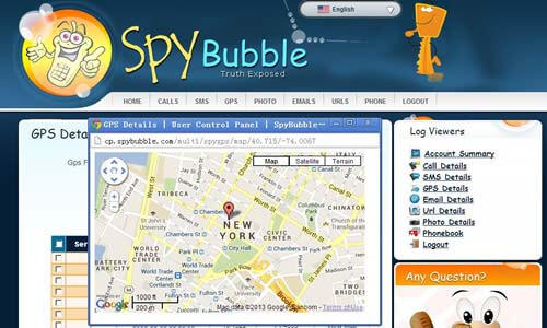 SpyBubble-Control-Panel